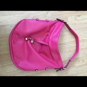 Bright pink purse